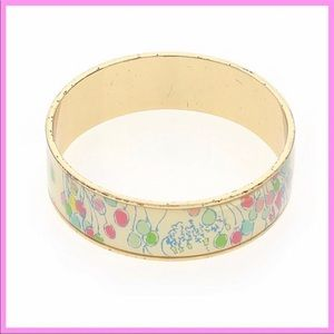 "LILLY PULITZER | RARE ""Birthday Balloons"" Bangle"